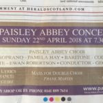 Soloist in Paisley Abbey